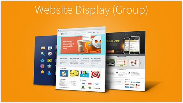 Website 3D Display Mockups Vol.1