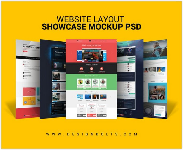 Website Layout Design Showcase Mock-up