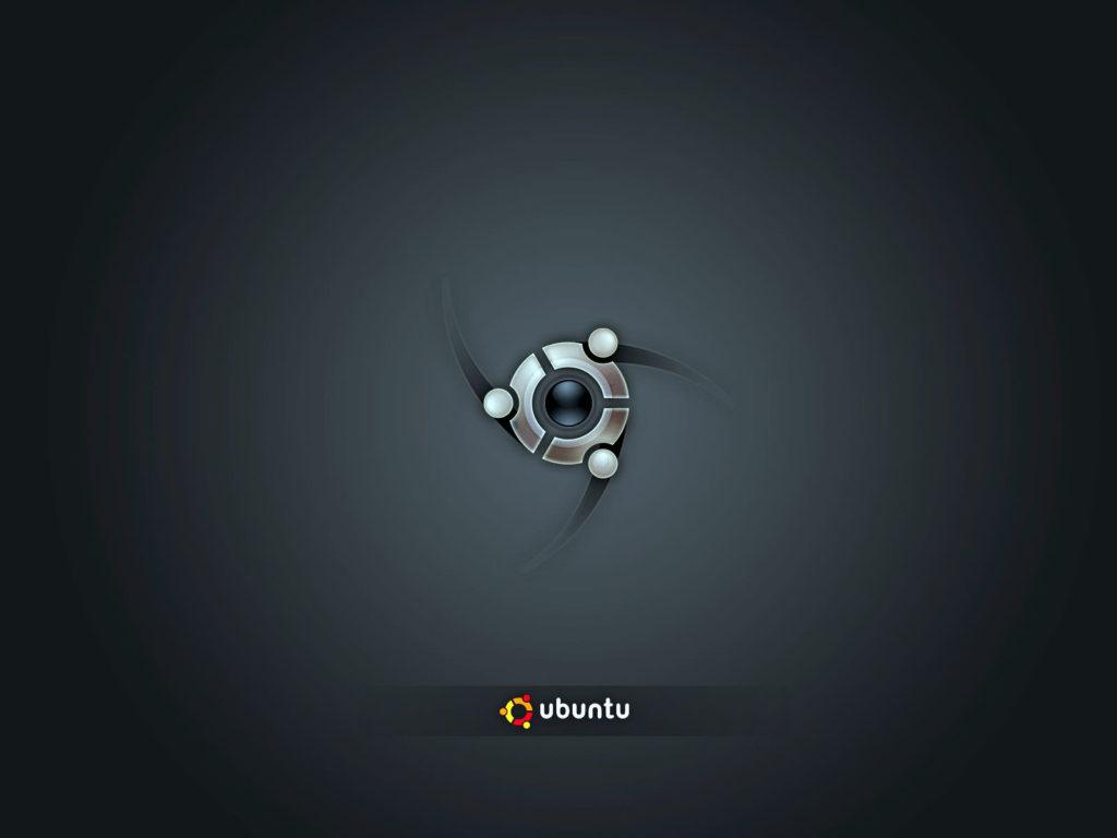 glossy ubuntu symbol and background