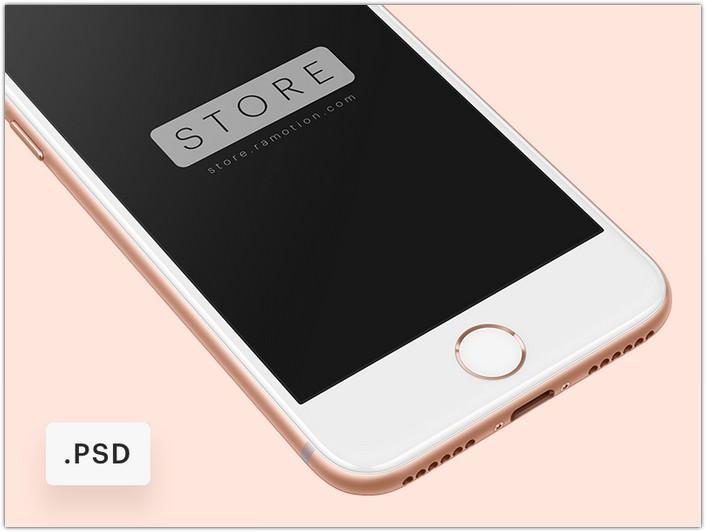 iPhone 8 Free Mockup PSD