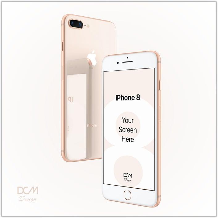 iPhone 8 Plus screen showcase Mockup