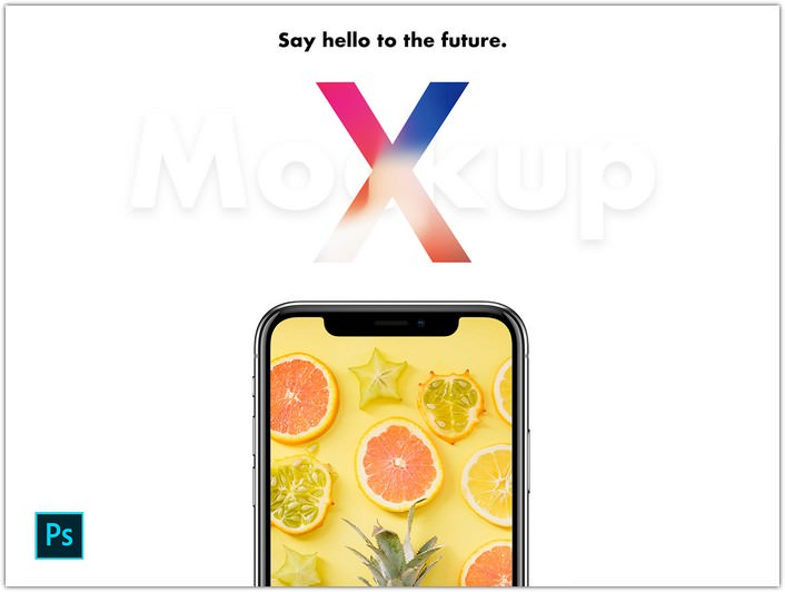 iPhone X Mockup PSD Free