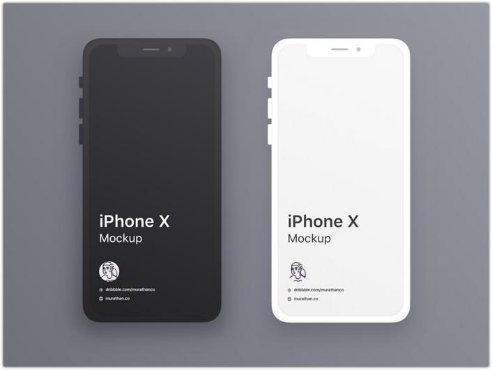 iPhone X Mockups Sketch Resource