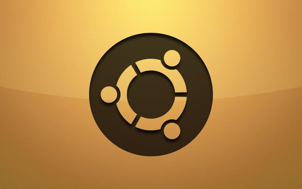 ubuntu-logo-background-Yellow-Wallpaper