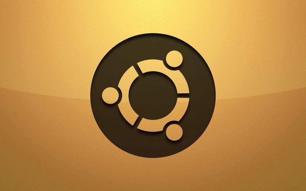 ubuntu-logo-background-Yellow-Wallpaper