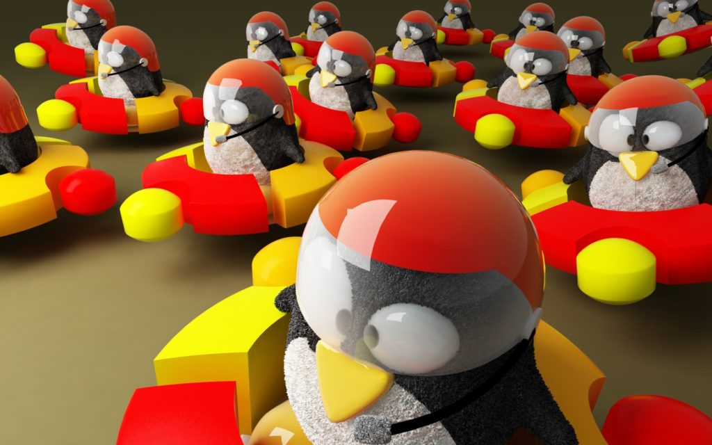 ubuntu-logo-penguins-Space-Ships