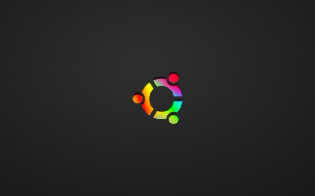 ubuntu rainbow symbol With black Background