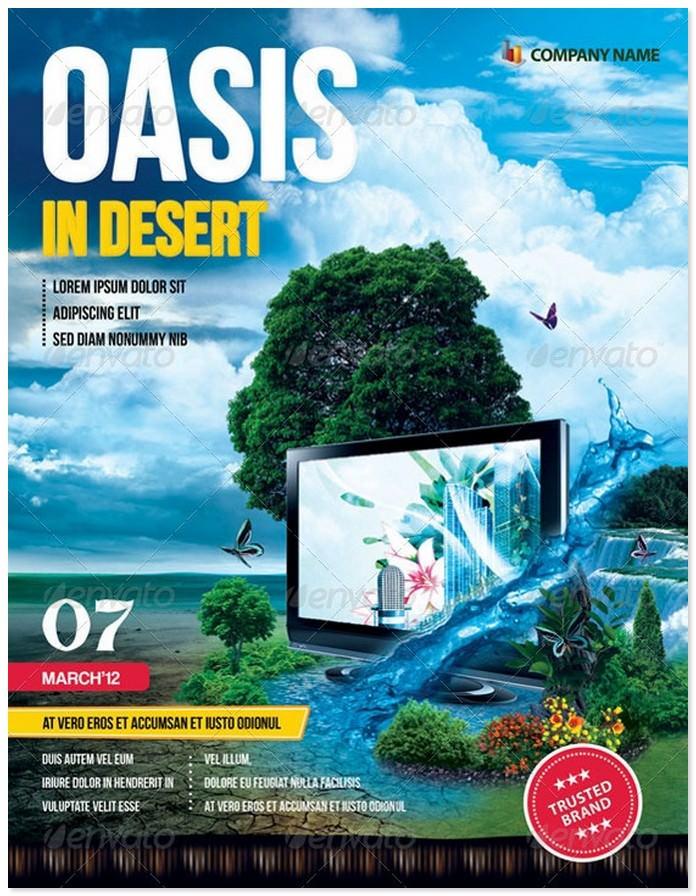 """""""Oasis In Desert"""" Advertising Flyer"""