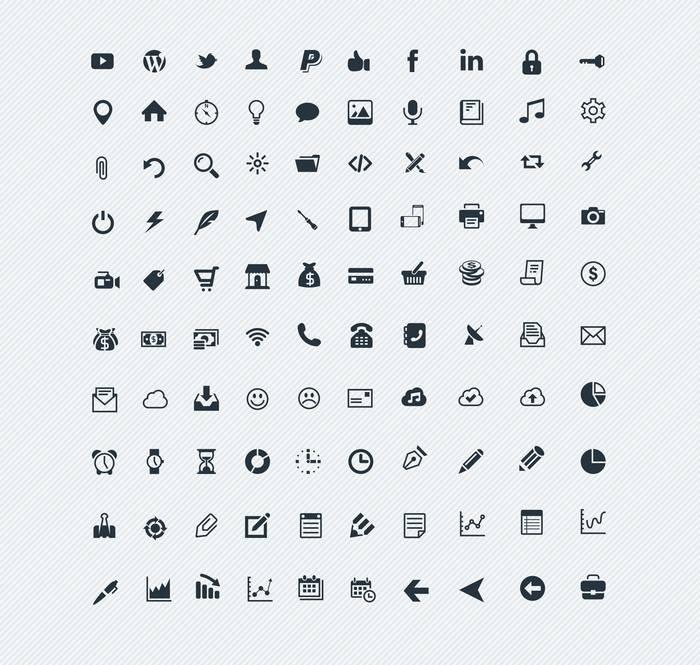 100 Crisp Icons