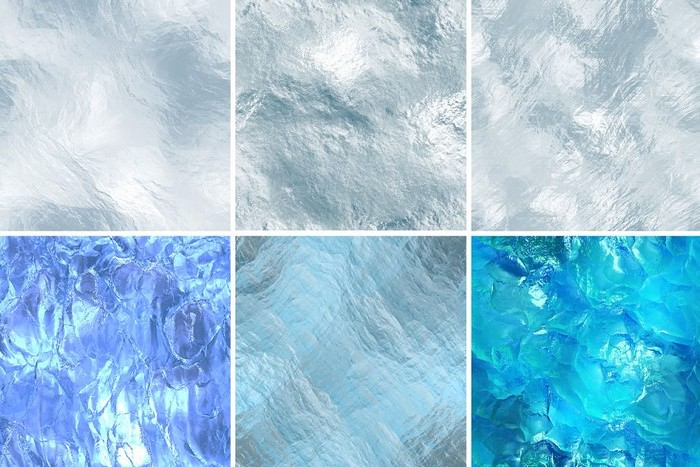 16 Seamless ice Textures. High res