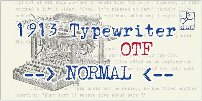1913 Typewriter NORMAL, OTF
