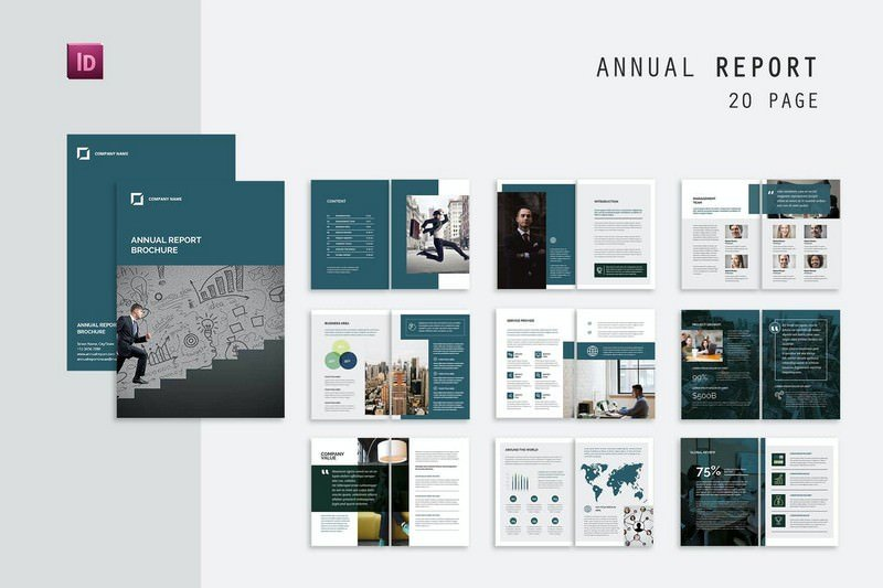 20 Pages Annual Report Brochure