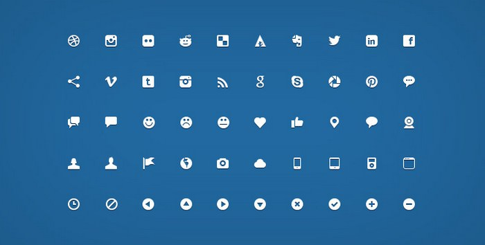 200 Handcrafted Micro Icons (PSD)