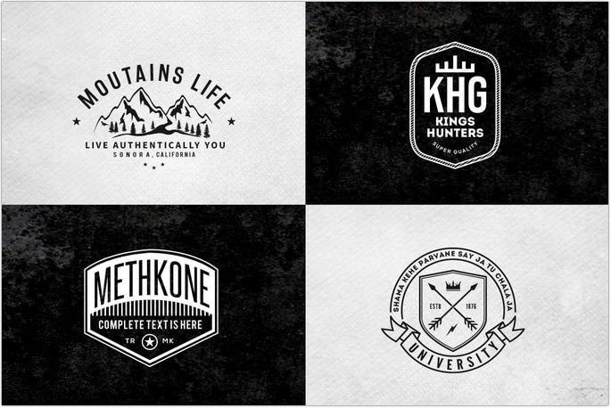 Retro Vintage Minimal Logos