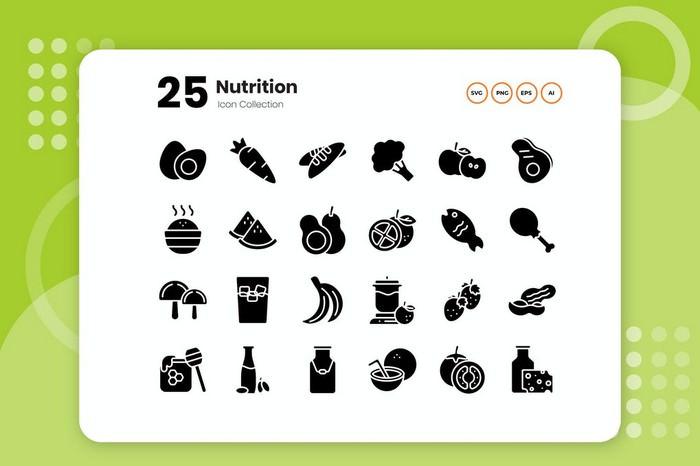 25 Nutrition Glyph Icon