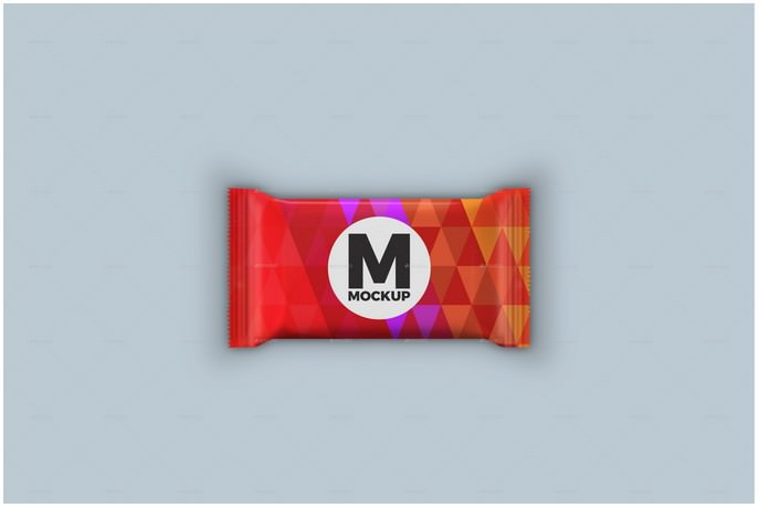 3 Chocolate Bar Packaging Mockup