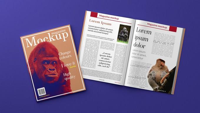 3D Magazine Mockup Free
