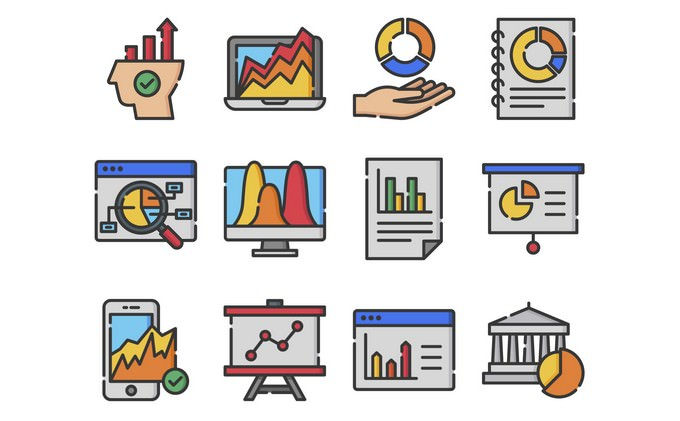 40 High Quality Business Analytic Icons