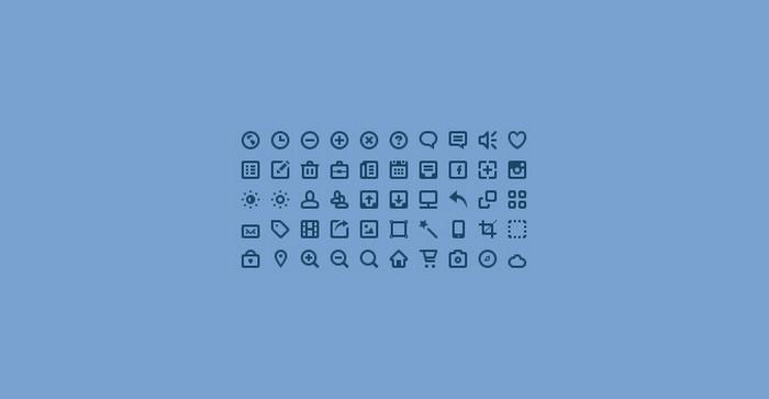 50 Mini Icons (PSD)