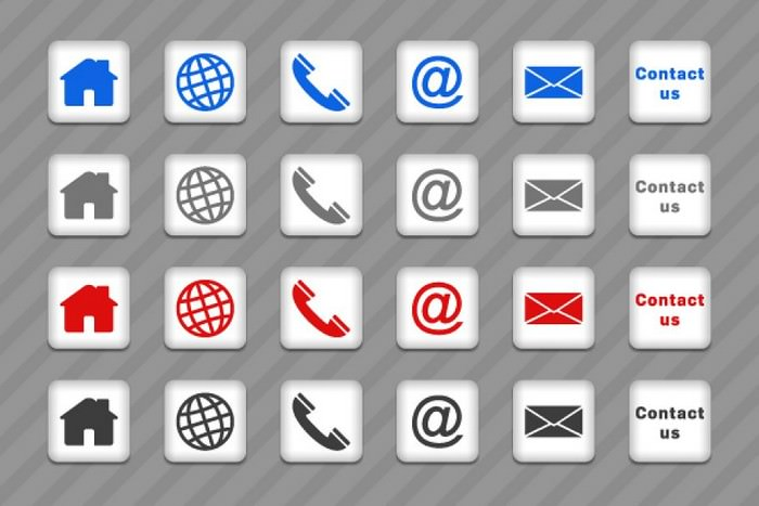 6 Contact icons