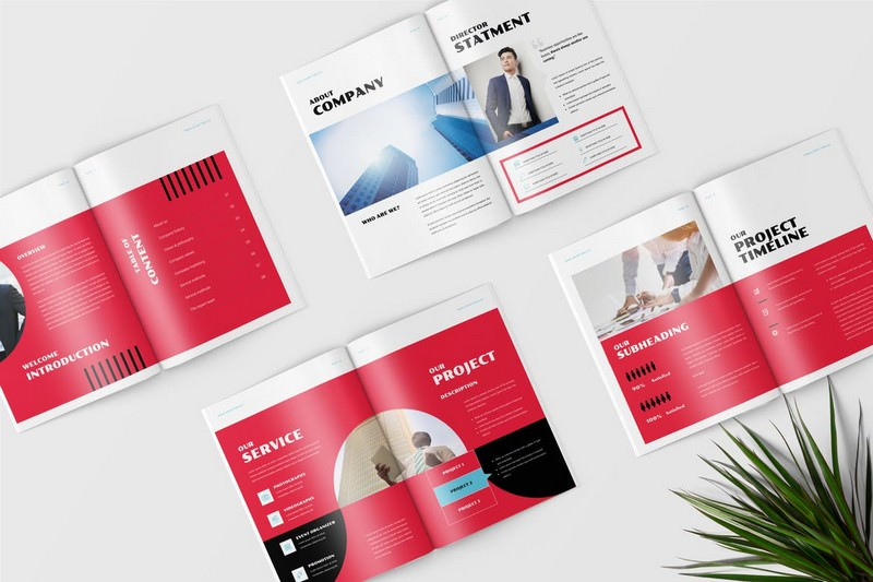 A4 Annual Report Template