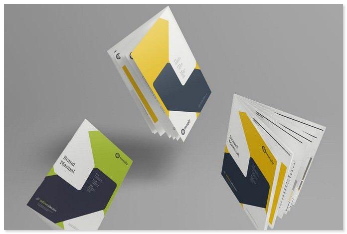 A4 Brochure / Magazine-Booklet Mockups