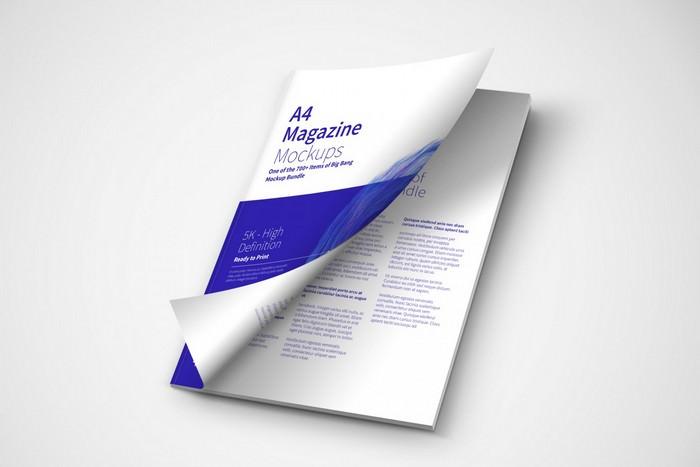 A4 Magazine Mockup Cover