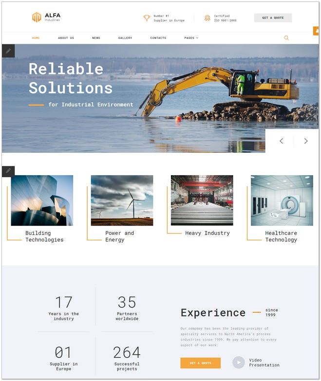 ALFA Industries Joomla Template