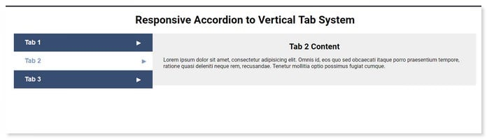 Accordion to Vertical Tabs