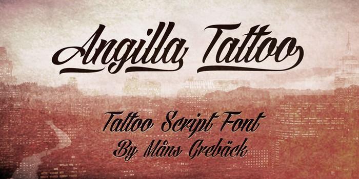 Angilla Tattoo Font