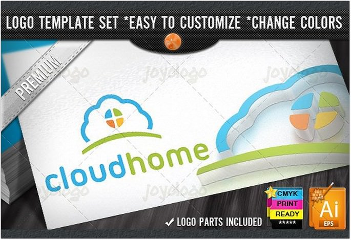 App Builder Home Cloud Logo Template