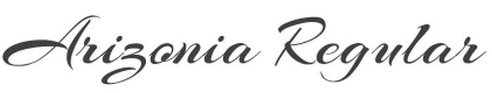 Arizonia Font