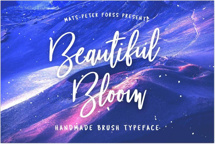 Beautiful Bloom Font