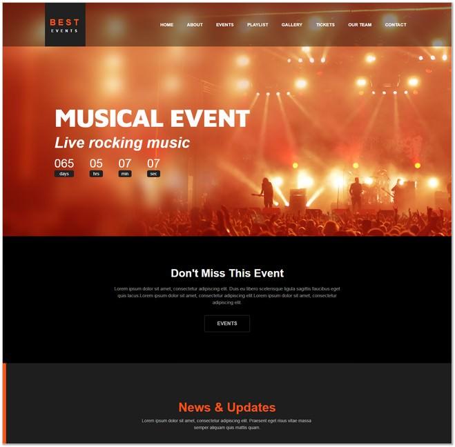 Best Event Management Website Template HTML5