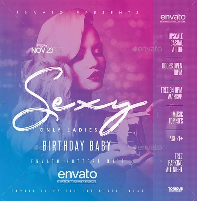 Birthday Night Club Flyer Template