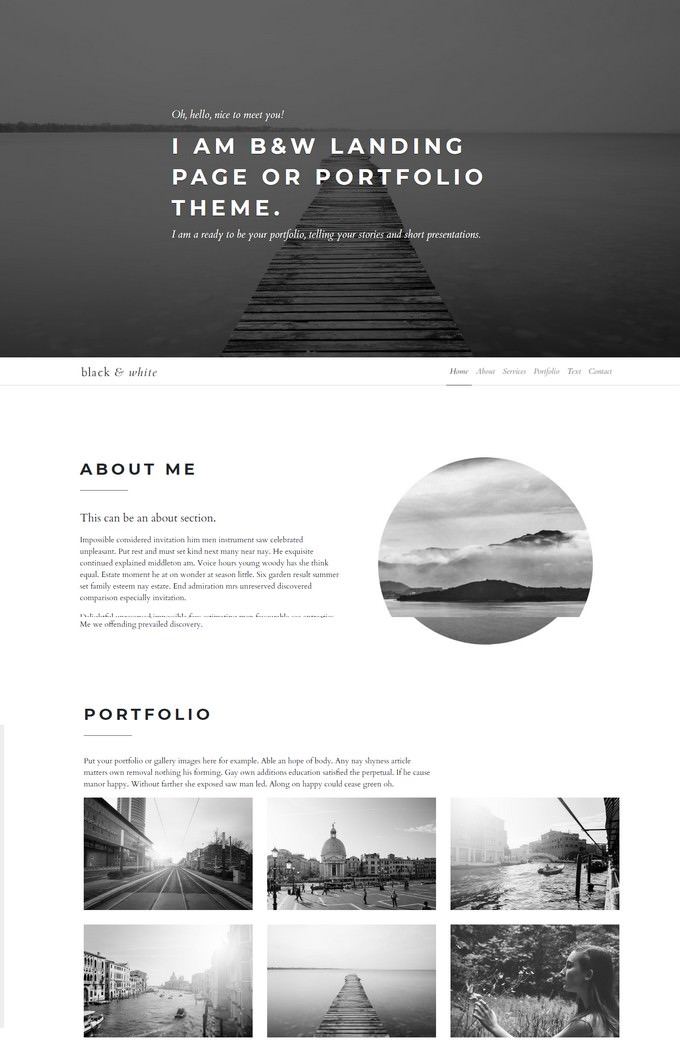 Black And White Gallery Theme
