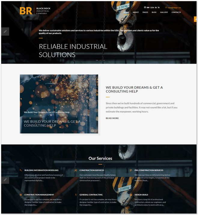 Black Rock - Industrial Company Joomla Template