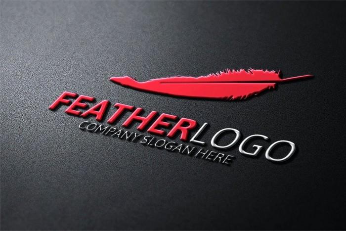Black & White Feather Logo
