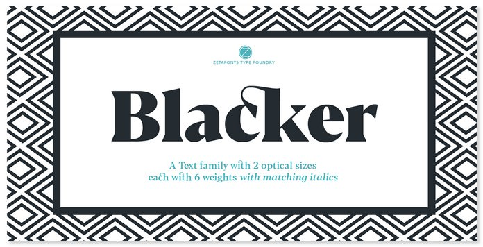 Blacker Text Family With Two Free Fonts