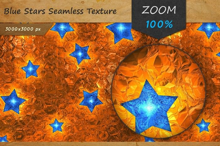 Blue Stars Foil Seamless Texture