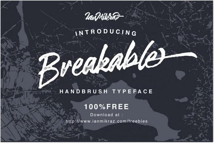 Breakable Typeface