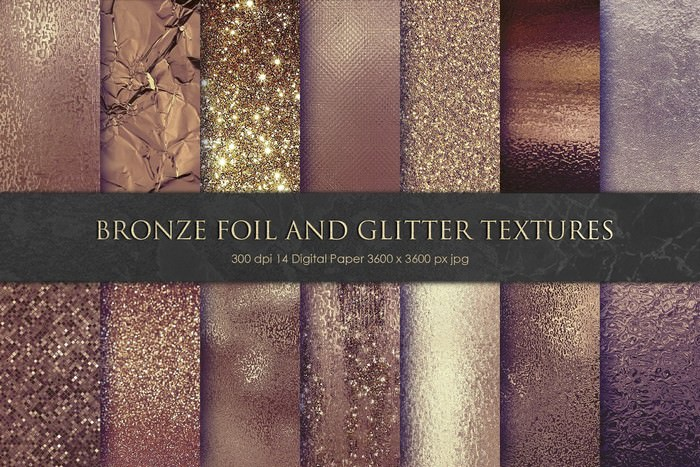 Bronze Foil and Glitter Textures