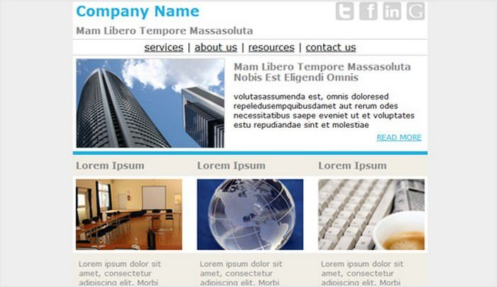 Business Email Newsletter Templates