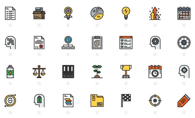 Business Productivity Icons