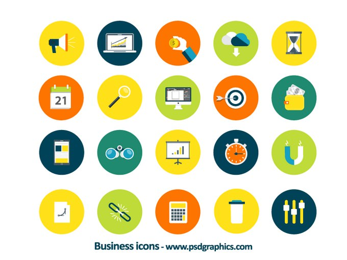 Business icons, vector