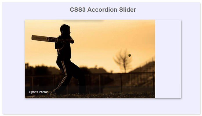 CSS3 Accordion Slider
