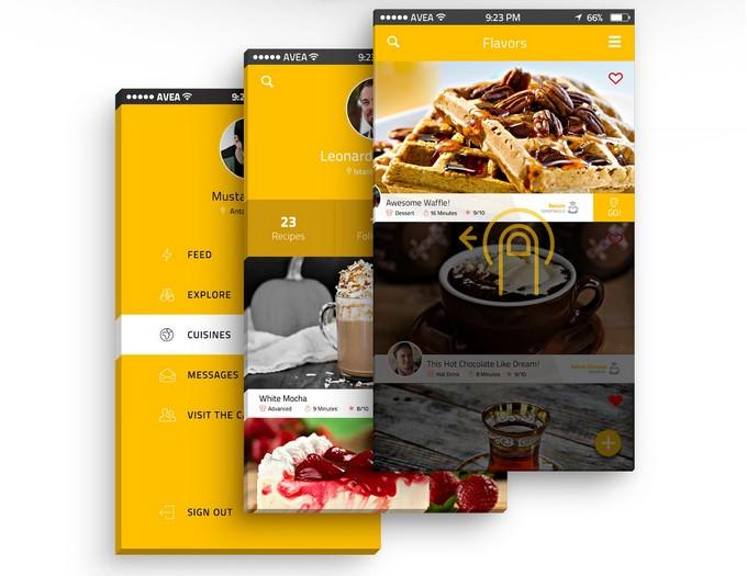 Cafegrapp - Mobile App UI Design