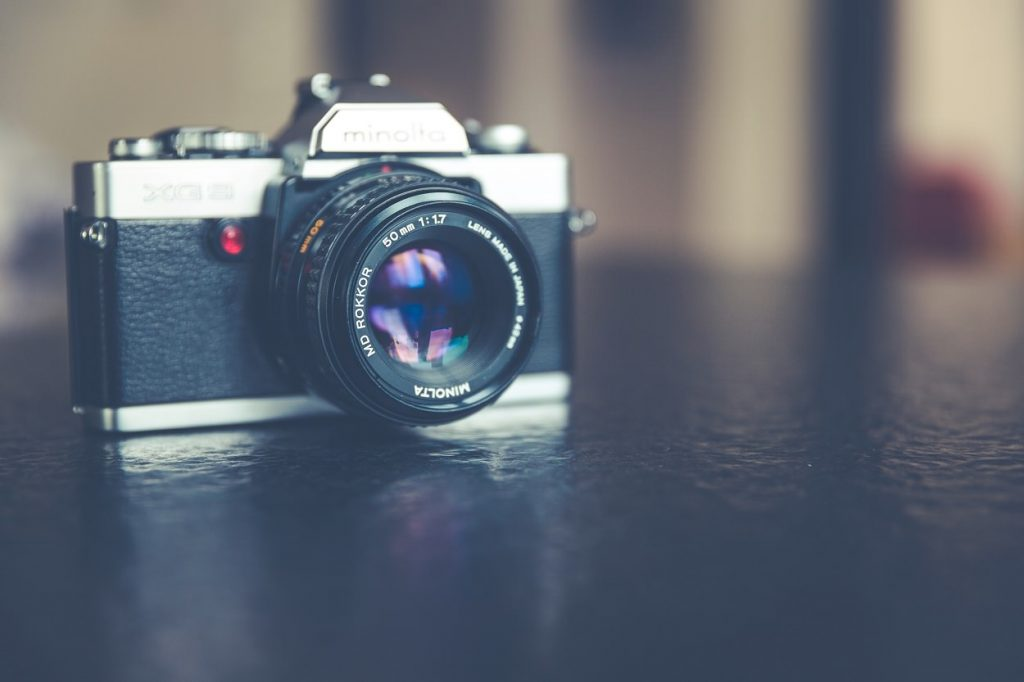 Camera hipster background