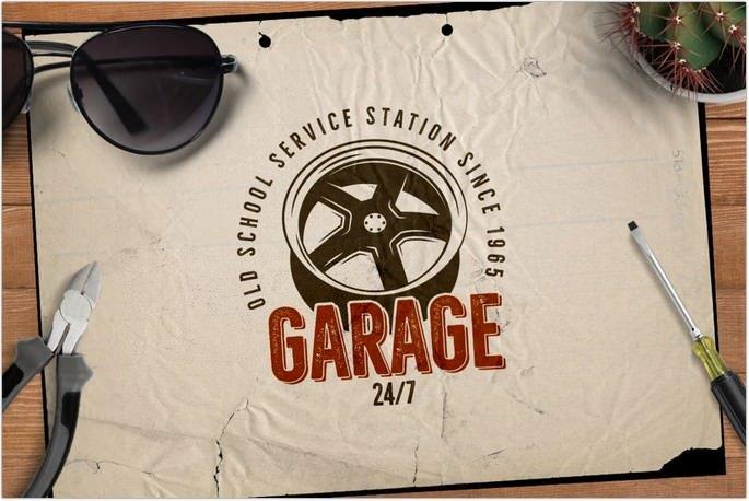 Car Retro Logo