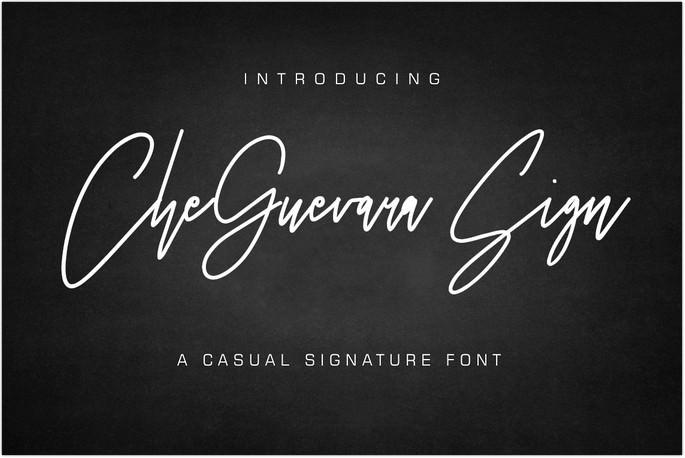 CheGuevara Sign Font